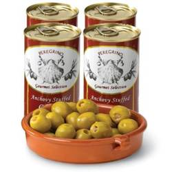 4-Pack - Anchovy Stuffed Olives by La Tienda
