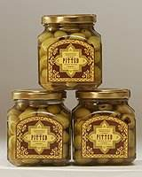 Moroccan Pitted Picholine Olives - 3 Jars