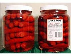 Gourmet Red Hot Pickled Polish Sausage - 2 Jars