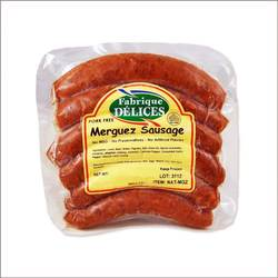Spicy Lamb Sausages - Merguez - Pork-Free - 24 Links